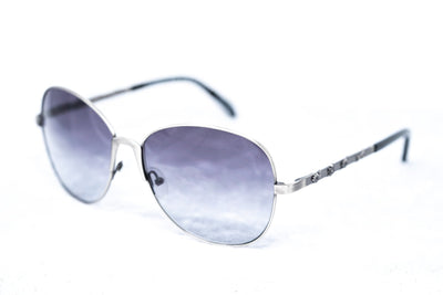 Buddhist Punk Sunglasses Rectangular Antique Silver With Grey Graduated Lenses 6BP3C3SILVER - Watches & Crystals