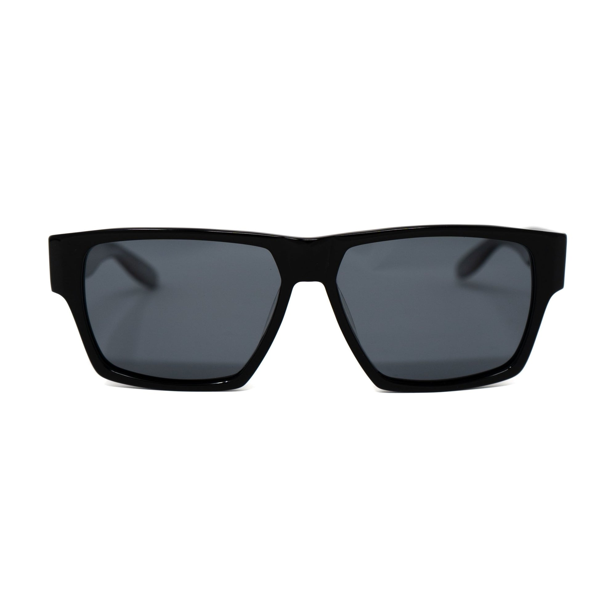 Buddhist Punk Sunglasses Rectangular Black Print With Grey Lenses Category 3 7BP6C2BLACKPRINT - Watches & Crystals