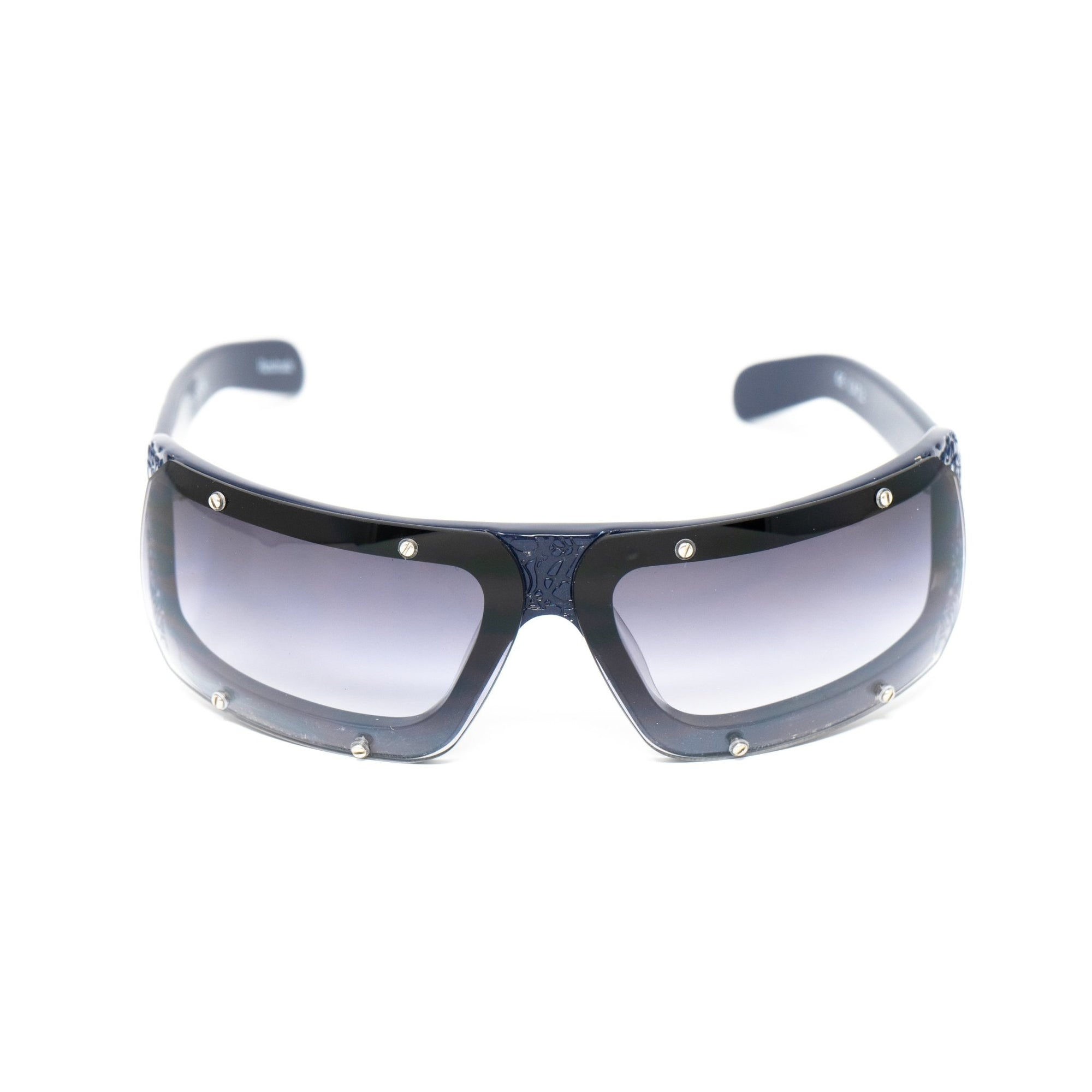 Buddhist Punk Sunglasses Rectangular Navy With Grey Graduated Lenses Category 2 6BP2C4NAVY - Watches & Crystals