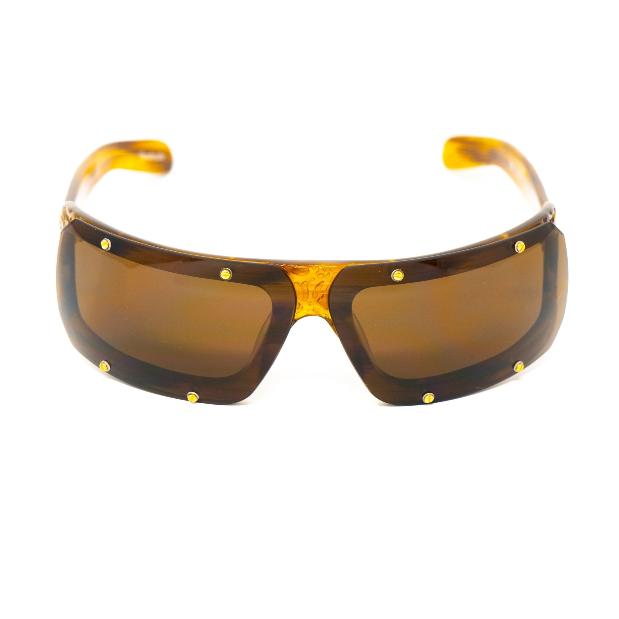 Buddhist Punk Sunglasses Rectangular Tortoise Shell With Brown Lenses Category 3 6BP2C2TSHELL - Watches & Crystals