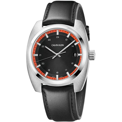 Calvin Klein Achieve Black Leather - Watches & Crystals