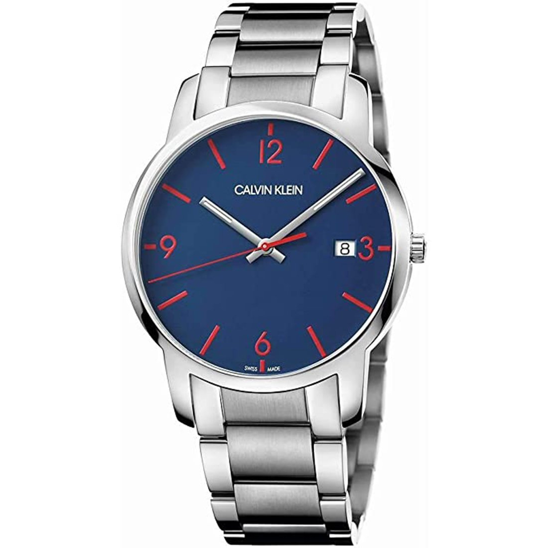 Calvin Klein City Blue Dial Stainless Steel
