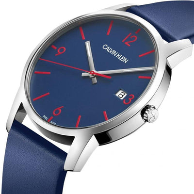 Calvin Klein City Blue Leather - Watches & Crystals