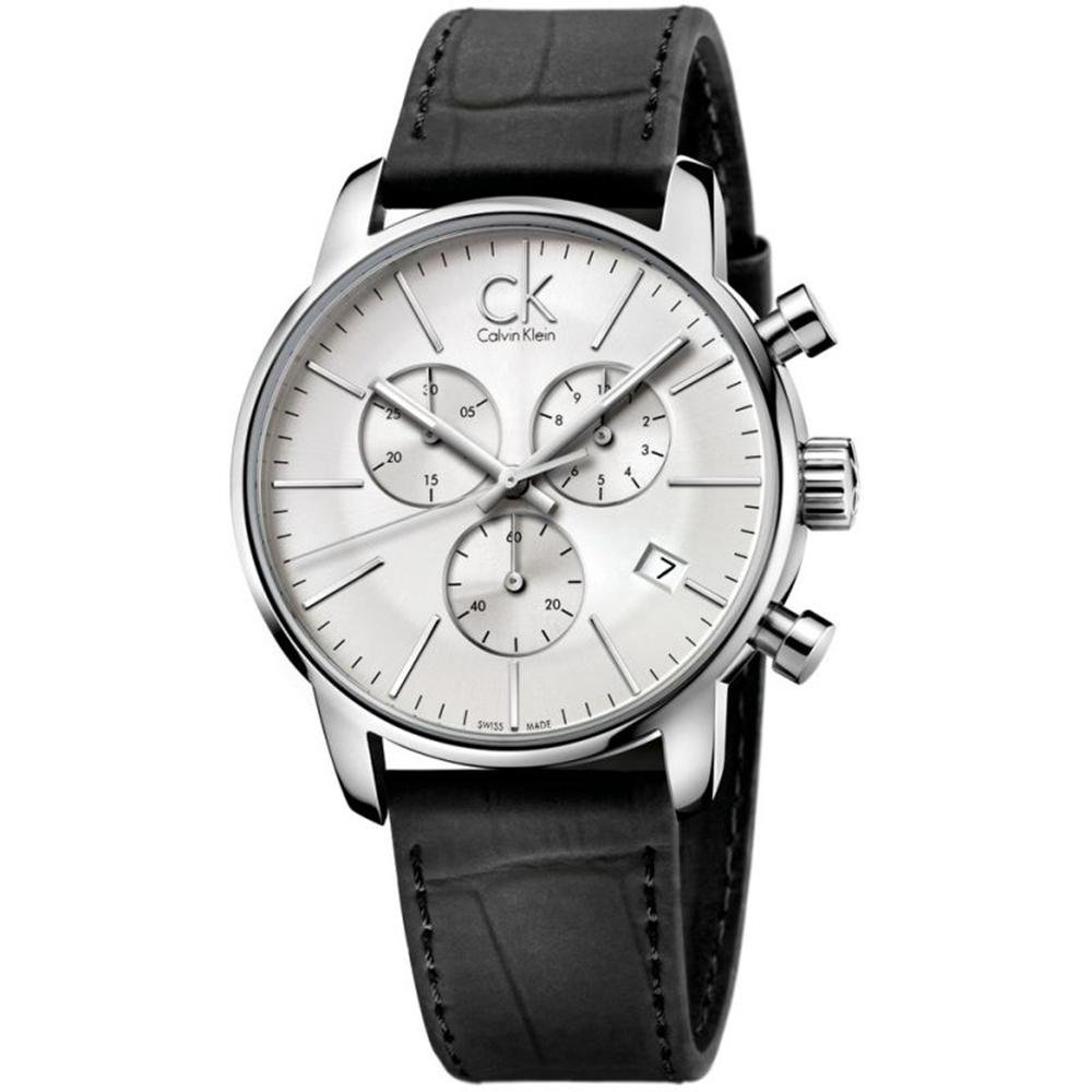 Calvin Klein City Chronograph Silver Leather