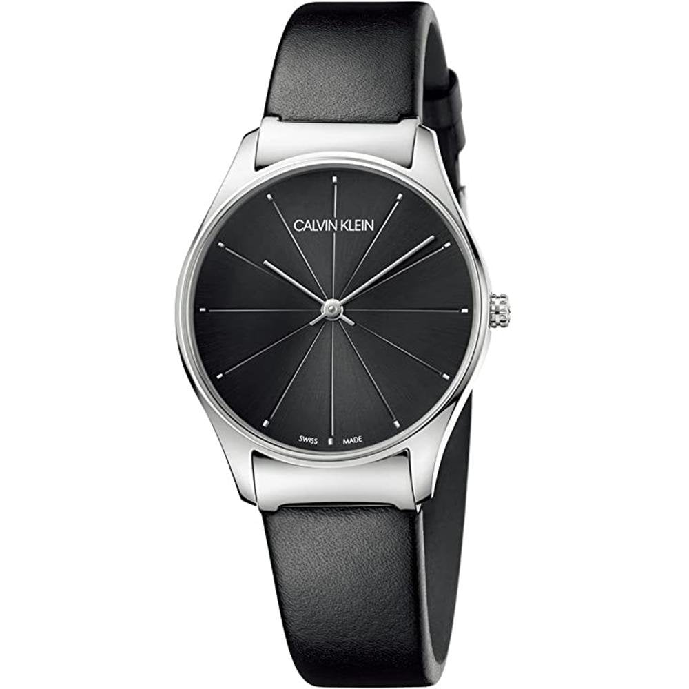 Calvin Klein Classic 24MM Black Leather - Watches & Crystals