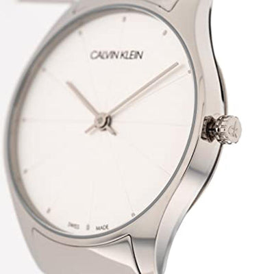 Calvin Klein Classic 32MM Silver Leather - Watches & Crystals