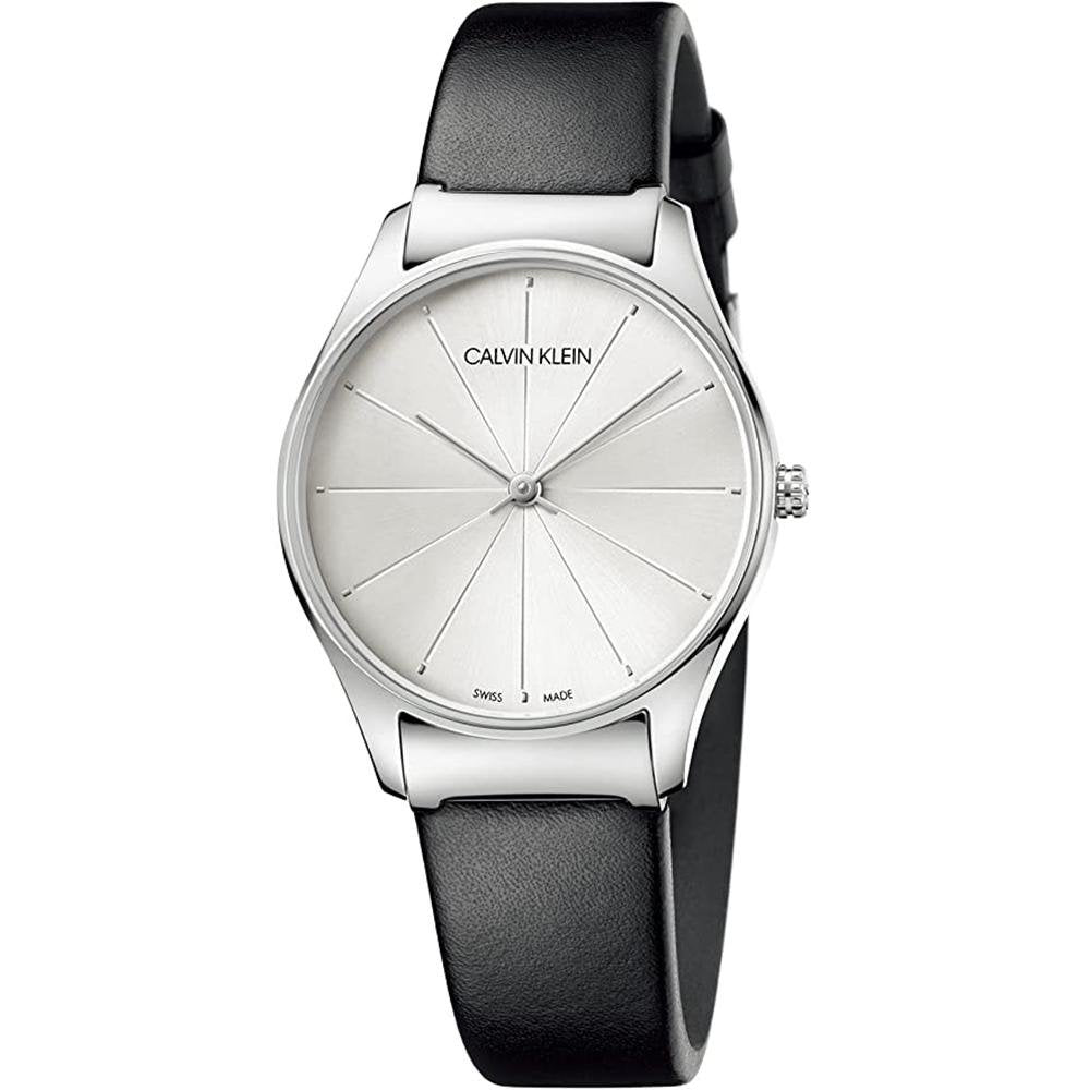 Calvin Klein Classic 32MM Silver Leather
