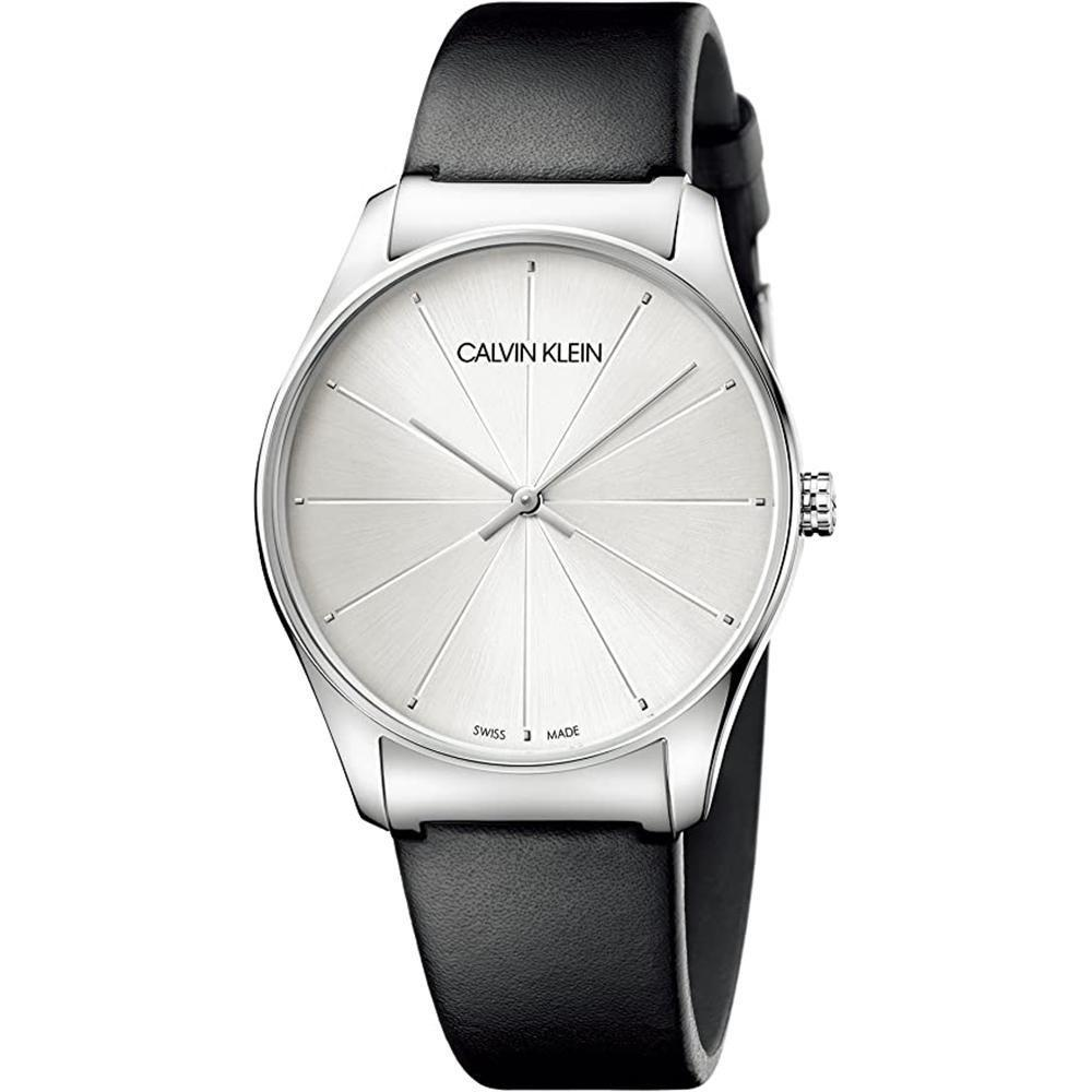 Calvin Klein Classic 38MM Silver Leather