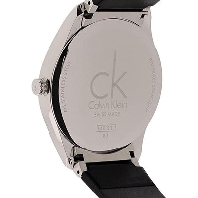 Calvin Klein Classic 38MM Silver Leather - Watches & Crystals