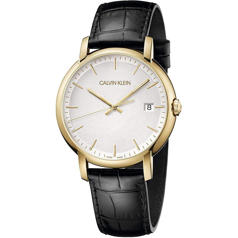 Calvin Klein Established Silver Dial Gold
