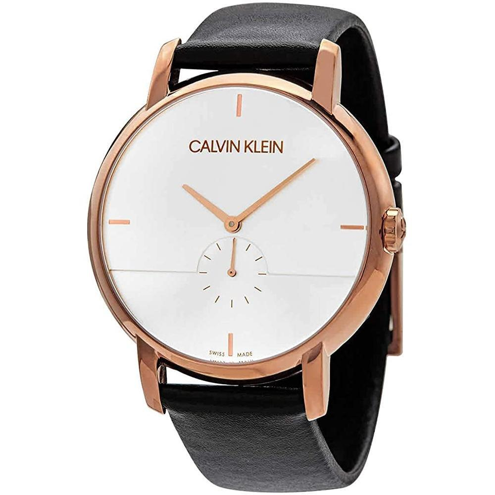 Calvin Klein Established Silver Dial Rose Gold