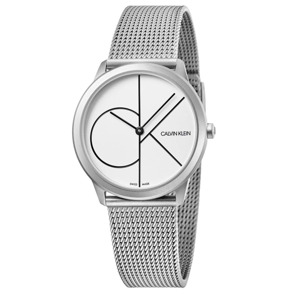 Calvin Klein Minimal White Stainless Steel - Watches & Crystals