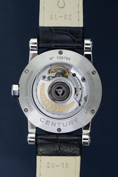 Century Sapphire Prime Time Ego COSC Chronometre Black Power Reserve - Watches & Crystals
