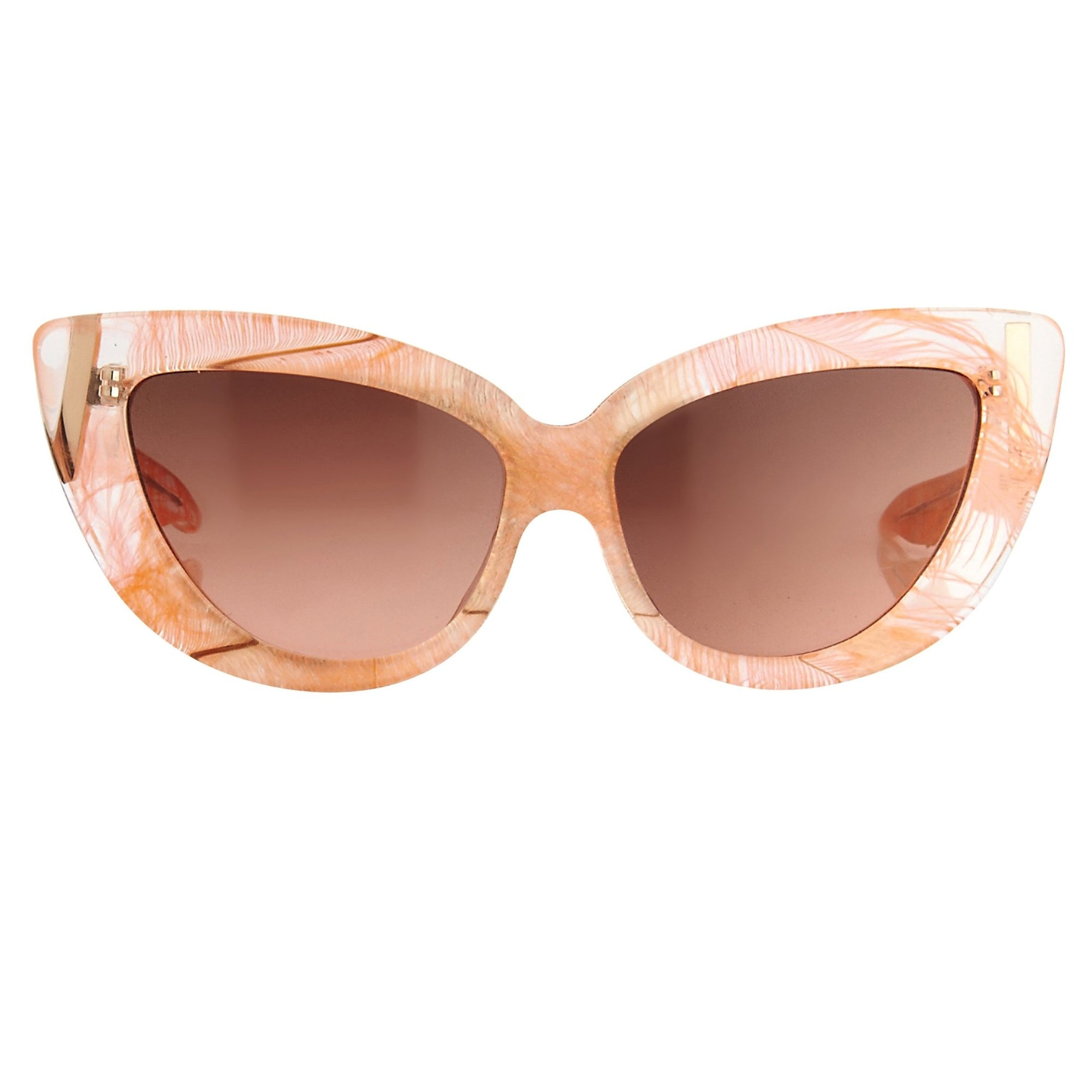 Charlotte Olympia Sunglasses Cat Eyes Orange Clear Feather CO1C4SUN - Watches & Crystals