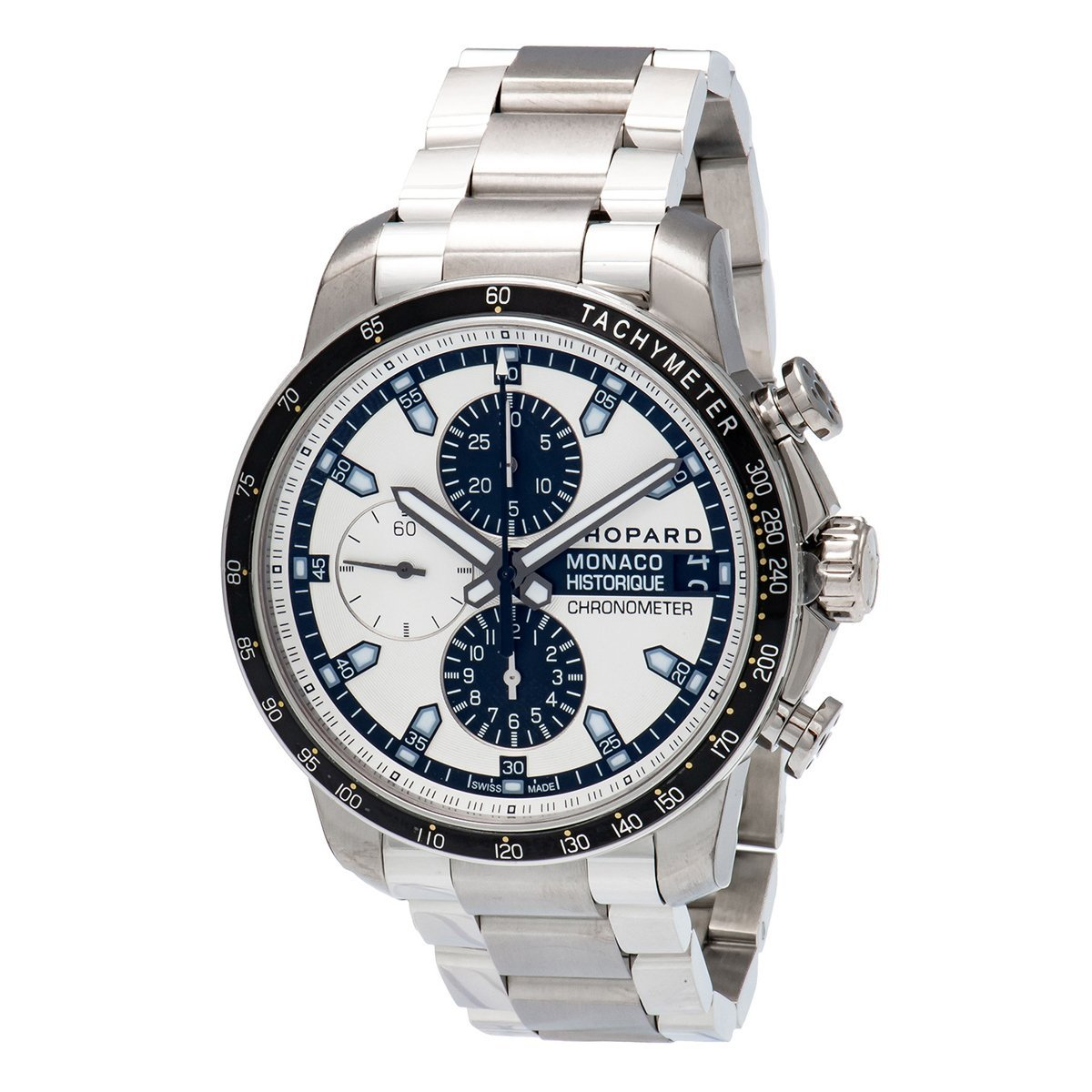 Chopard Grand Prix Monaco Historique Chronograph Men's Watch White - Watches & Crystals