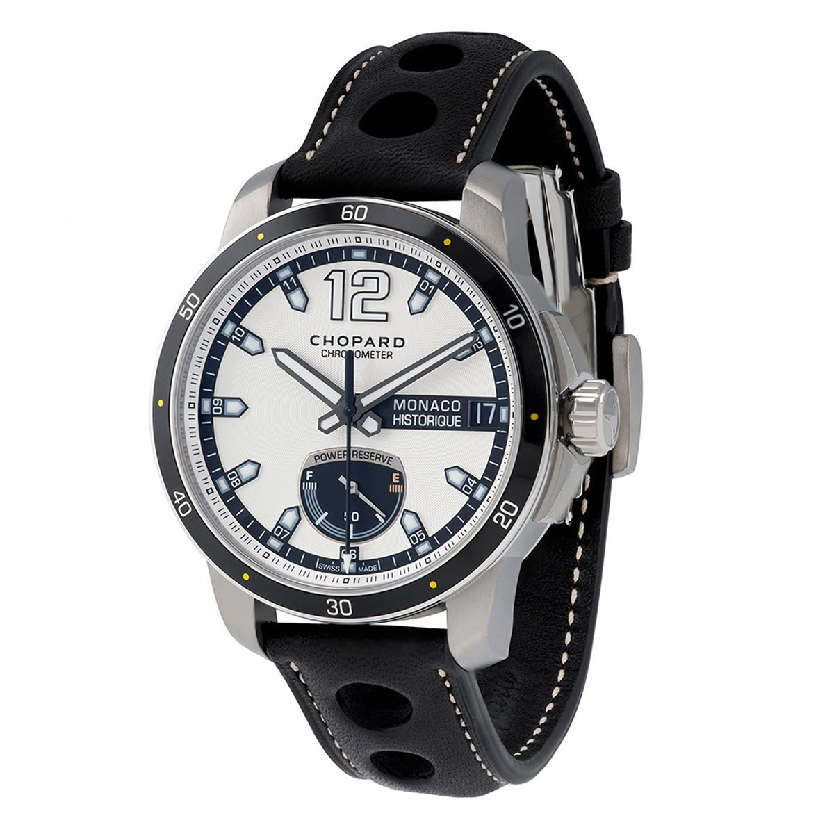 Chopard Grand Prix Monaco Historique Men's Watch Power Control Leather - Watches & Crystals