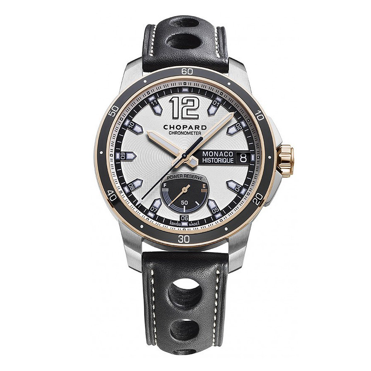 Chopard Grand Prix Monaco Historique Men's Watch Power Control Rose Gold - Watches & Crystals