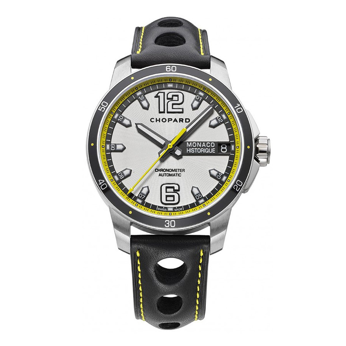 Chopard Grand Prix Monaco Historique Men's Watch Titanium Leather - Watches & Crystals