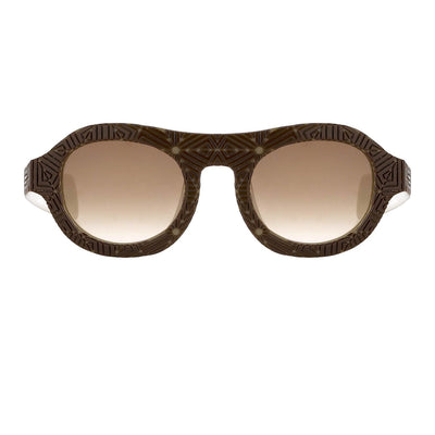 David David Sunglasses Oval Solid Brown Mink Cream With Brown Lenses Category 3 9DAVID1C4BLACKMINK - Watches & Crystals
