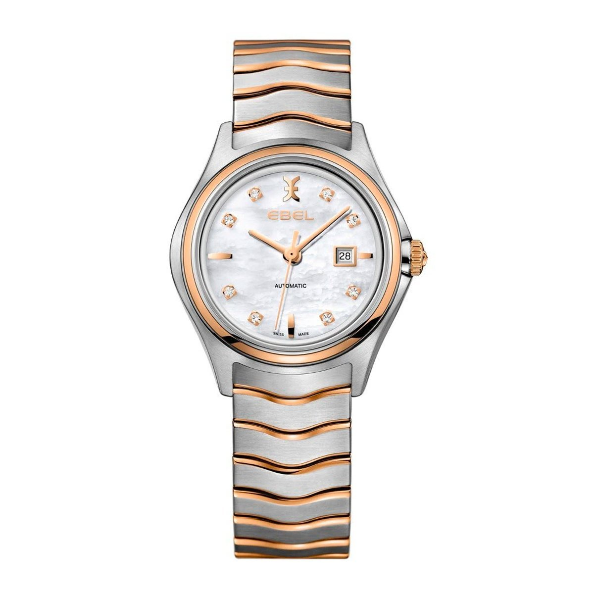 Ebel Wave 18ct Rose Gold Diamond - Watches & Crystals