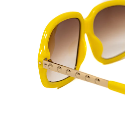 Eley Kishimoto Sunglasses Angular Jackie-O Yellow and Gold With Brown Gradient Category 1 Lenses 8EK20C3YELLOW - Watches & Crystals