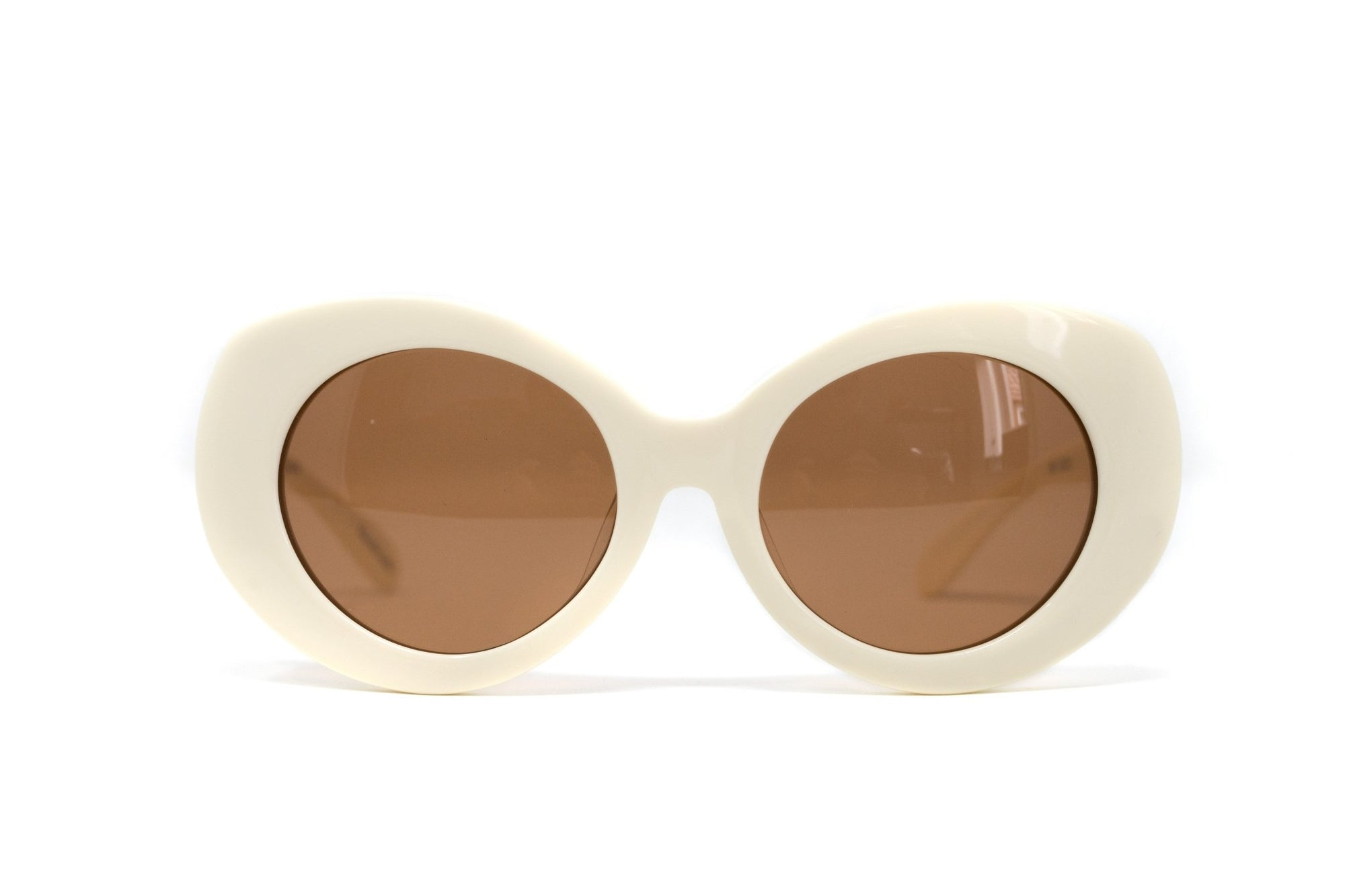 Eley Kishimoto Sunglasses Cat Eye Cream With Brown Category 2 Lenses 6EK9C3WHITE - Watches & Crystals