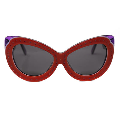 Eley Kishimoto Sunglasses Cat Eye Red With Grey Category 3 Lenses 6EK10C2RED - Watches & Crystals