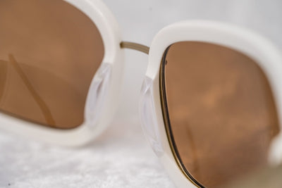 Eley Kishimoto Sunglasses Oval Cream Gold Metal With Brown Lenses 5EKE1 - Watches & Crystals