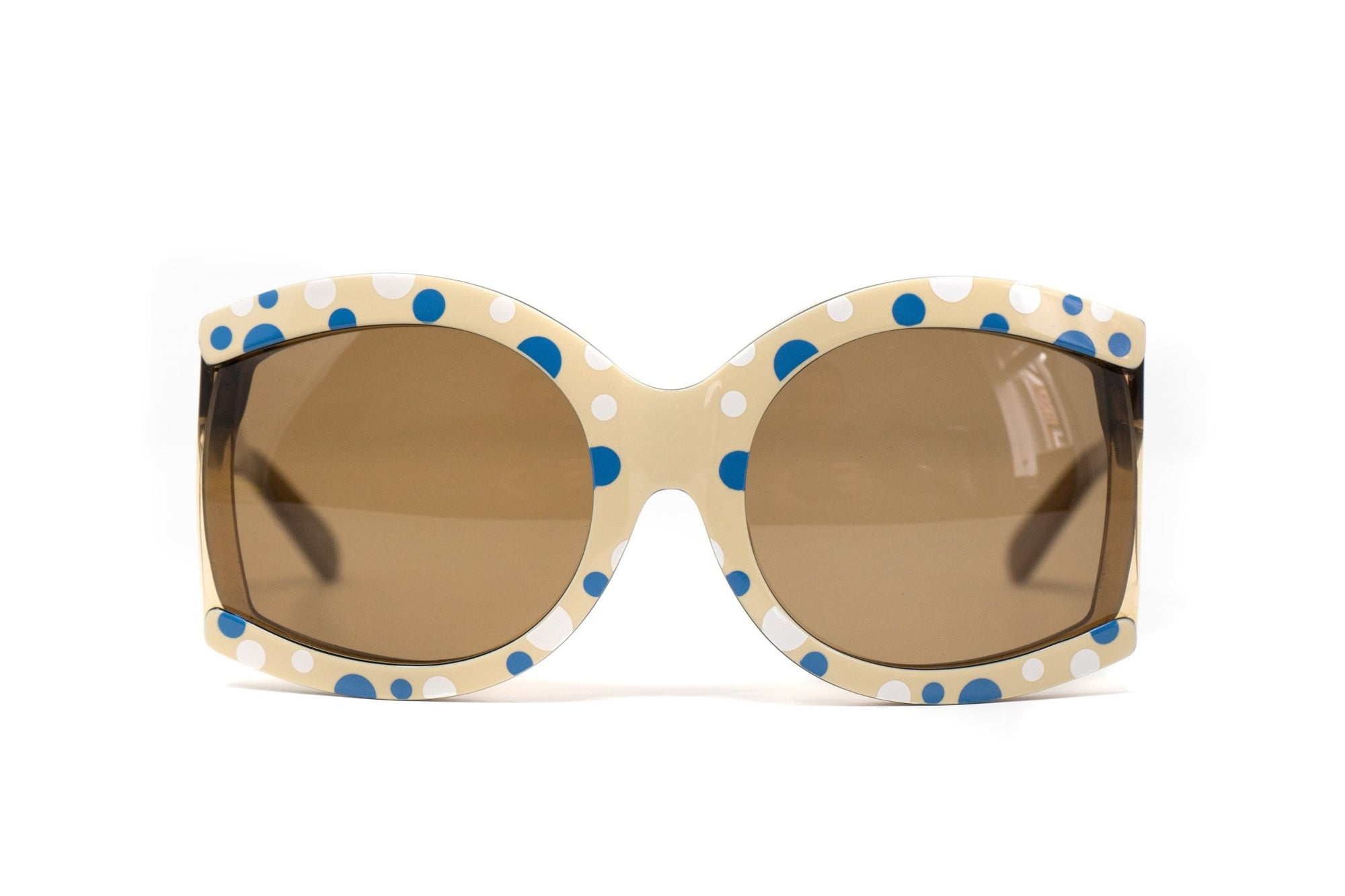 Eley Kishimoto Sunglasses Oversized Cream Spots With Brown Category 2 Lenses 6EK11C1SPOTS - Watches & Crystals