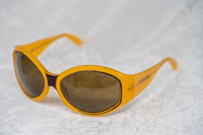 Eley Kishimoto Sunglasses Oversized Mustard Brown With Brown Lenses 5EKA3 - Watches & Crystals