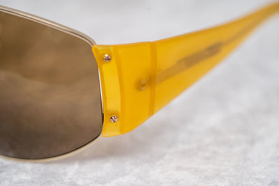 Eley Kishimoto Sunglasses Oversized Mustard Gold With Brown Lenses 5EKC1 - Watches & Crystals