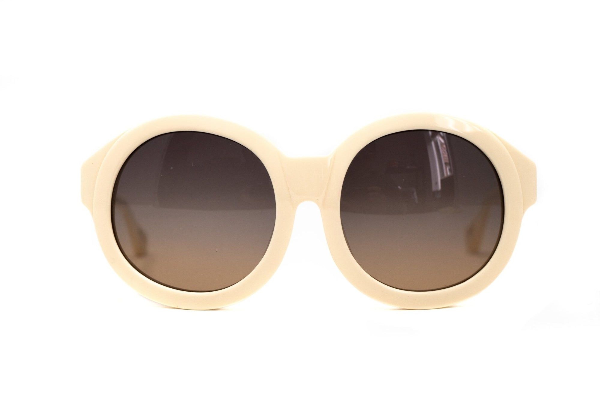 Eley Kishimoto Sunglasses Oversized Round Cream With Brown Category 3 Lenses EK27C4SUN - Watches & Crystals