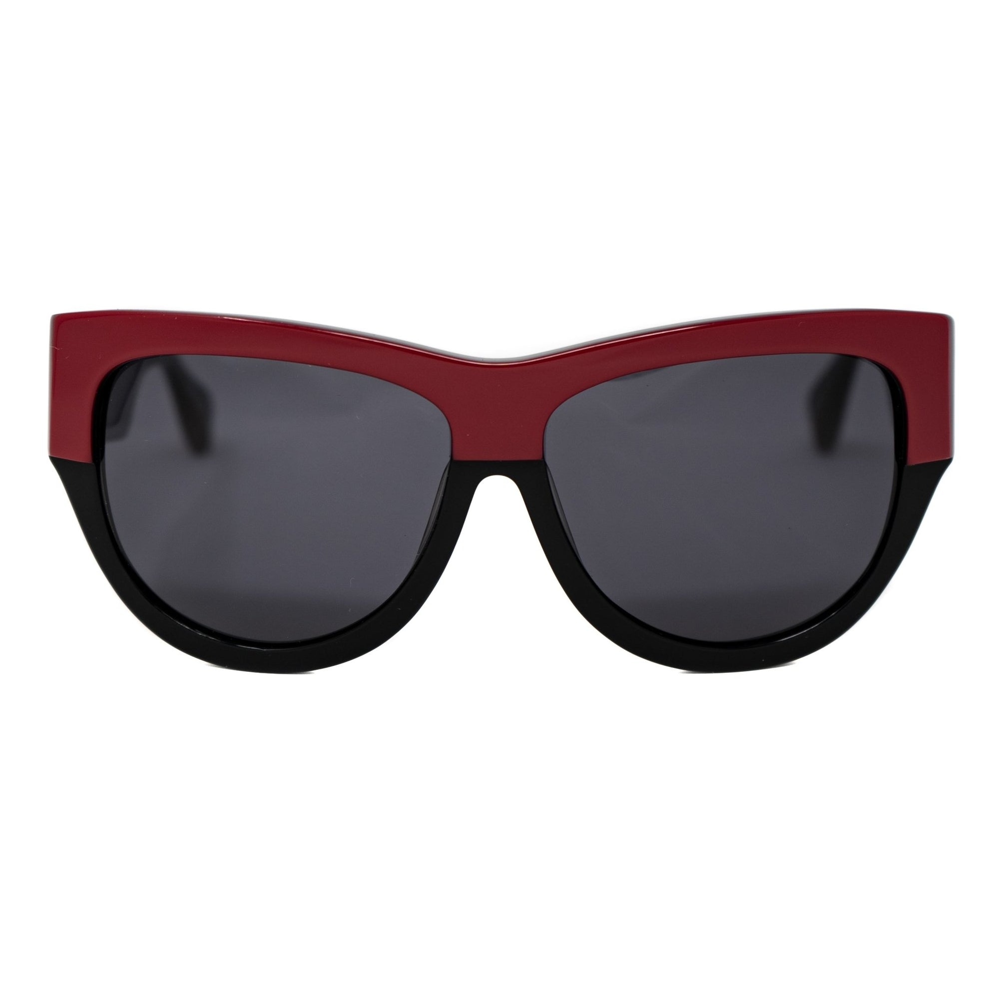 Eley Kishimoto Sunglasses Oversized Wayfarer Red and Black With Black Lenses EK26C1SUN - Watches & Crystals