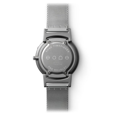 Eone Unisex Watch Bradley, Titanium With Silver Mesh Stainless Steel Strap - Watches & Crystals