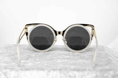 Erdem Sunglasses Cat Eye Transparent White and Grey - Watches & Crystals