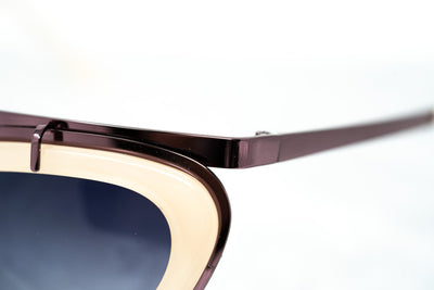 Erdem Women Sunglasses Cat Eye Beige Rose Gold and Grey Graduated Lenses - EDM3C2SUN - Watches & Crystals