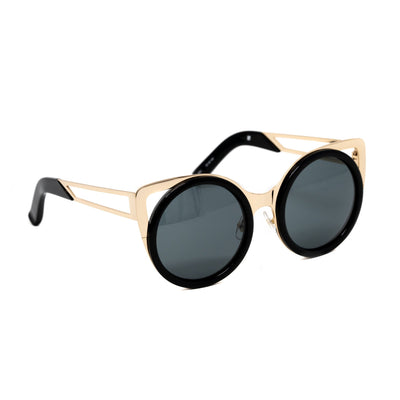 Erdem Women Sunglasses Cat Eye Black Light Gold with Black Lenses Category 3 EDM4C1SUN - Watches & Crystals