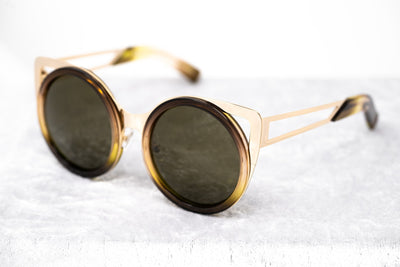 Erdem Women Sunglasses Cat Eye Brown Gradient Light Gold with Brown Lenses Category 3 EDM4C11SUN - Watches & Crystals