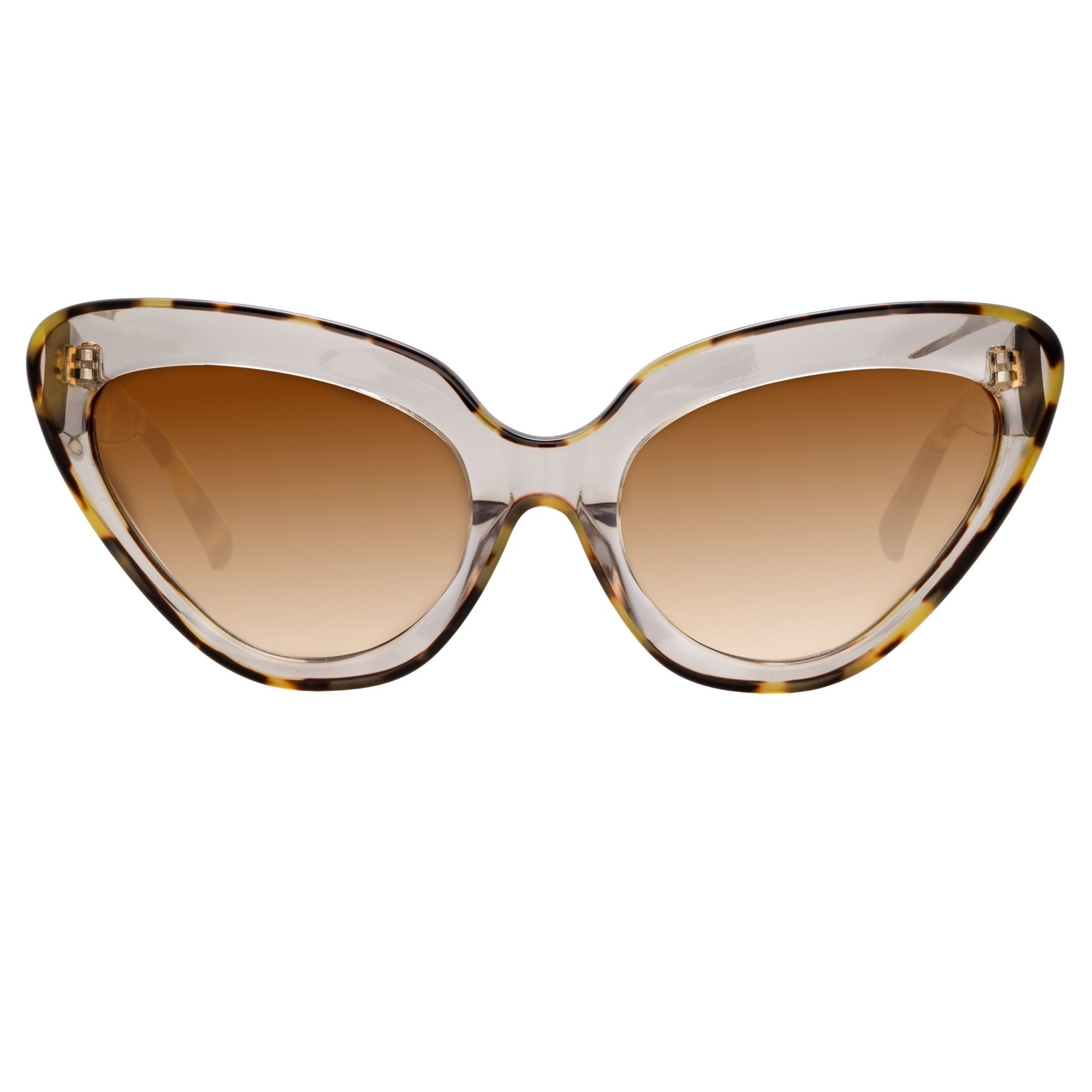 Erdem Women Sunglasses Cat Eye Clear Tortoiseshell With Brown Graduated Lenses - EDM29C1SUN - Watches & Crystals