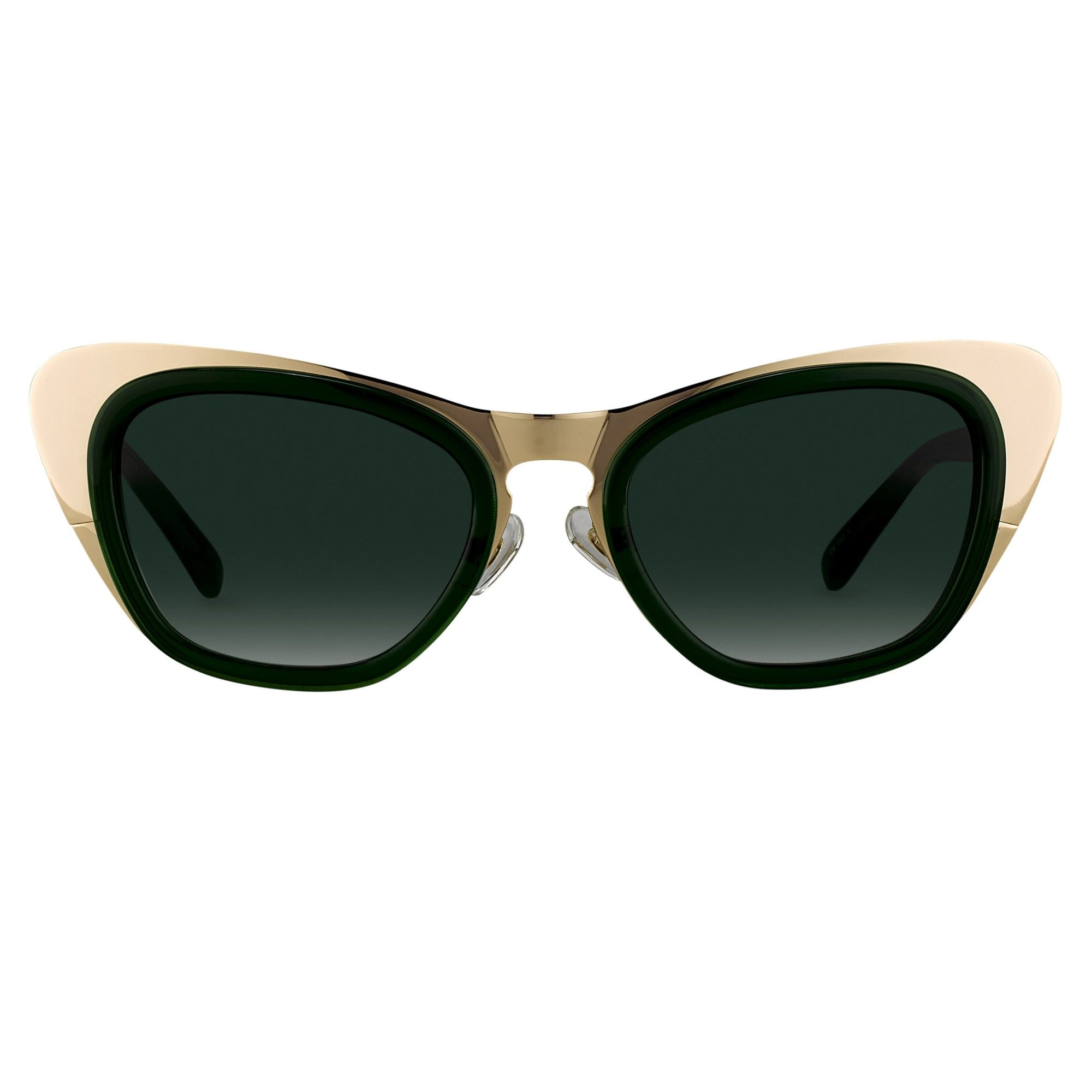 Erdem Women Sunglasses Cat Eye Dark Green Gold with Green Graduated Lenses Category 3 EDM17C3SUN - Watches & Crystals