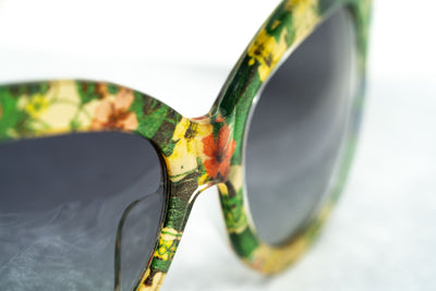 Erdem Women Sunglasses Cat Eye Floral with Grey Graduated Lenses - EDM21C4SUN - Watches & Crystals