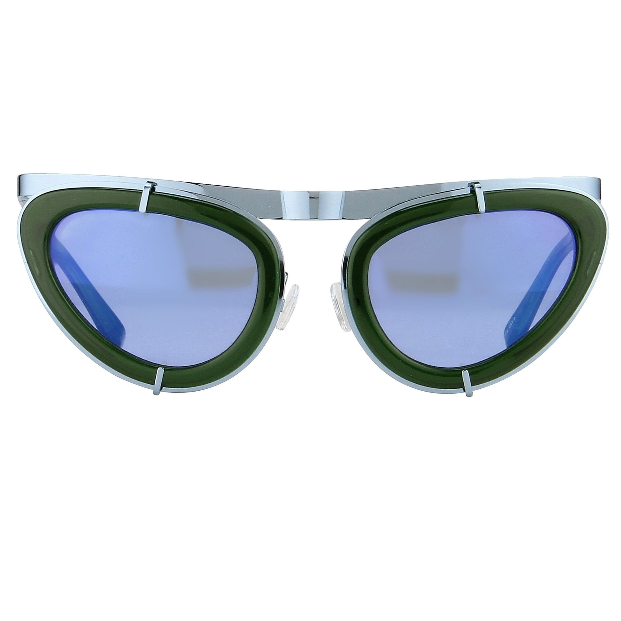 Erdem Women Sunglasses Cat Eye Green Blue and Blue Mirror Lenses - EDM3C4SUN - Watches & Crystals