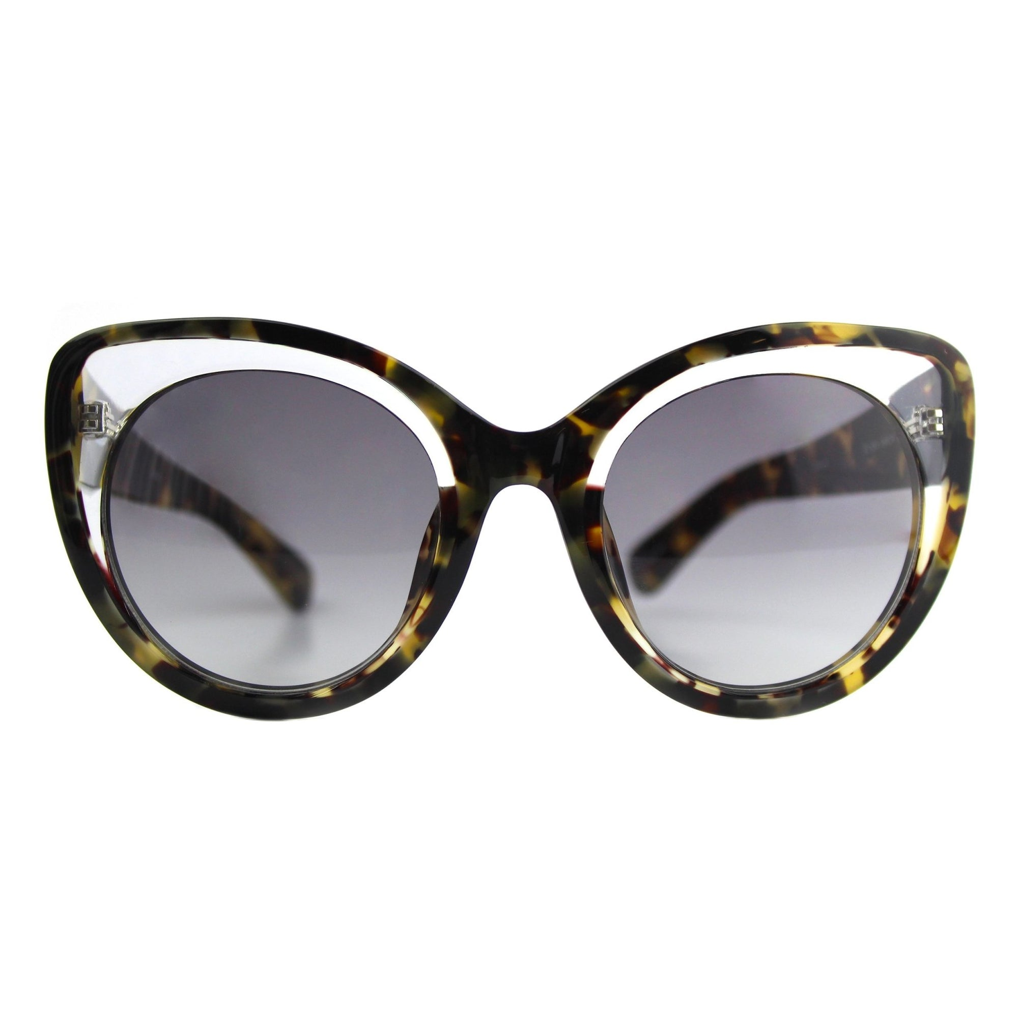 Erdem Women Sunglasses Cat Eye Tortoise Shell Clear with Grey Graduated Lenses Category 3 EDM14C5SUN - Watches & Crystals