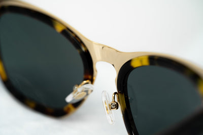 Erdem Women Sunglasses Cat Eye Tortoise Shell Gold with Grey Lenses Category 3 EDM17C2SUN - Watches & Crystals