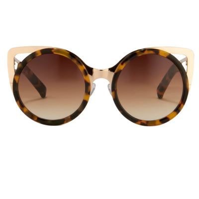 Erdem Women Sunglasses Cat Eye Tortoise Shell Light Gold with Brown Graduated Lenses EDM4C2SUN - Watches & Crystals
