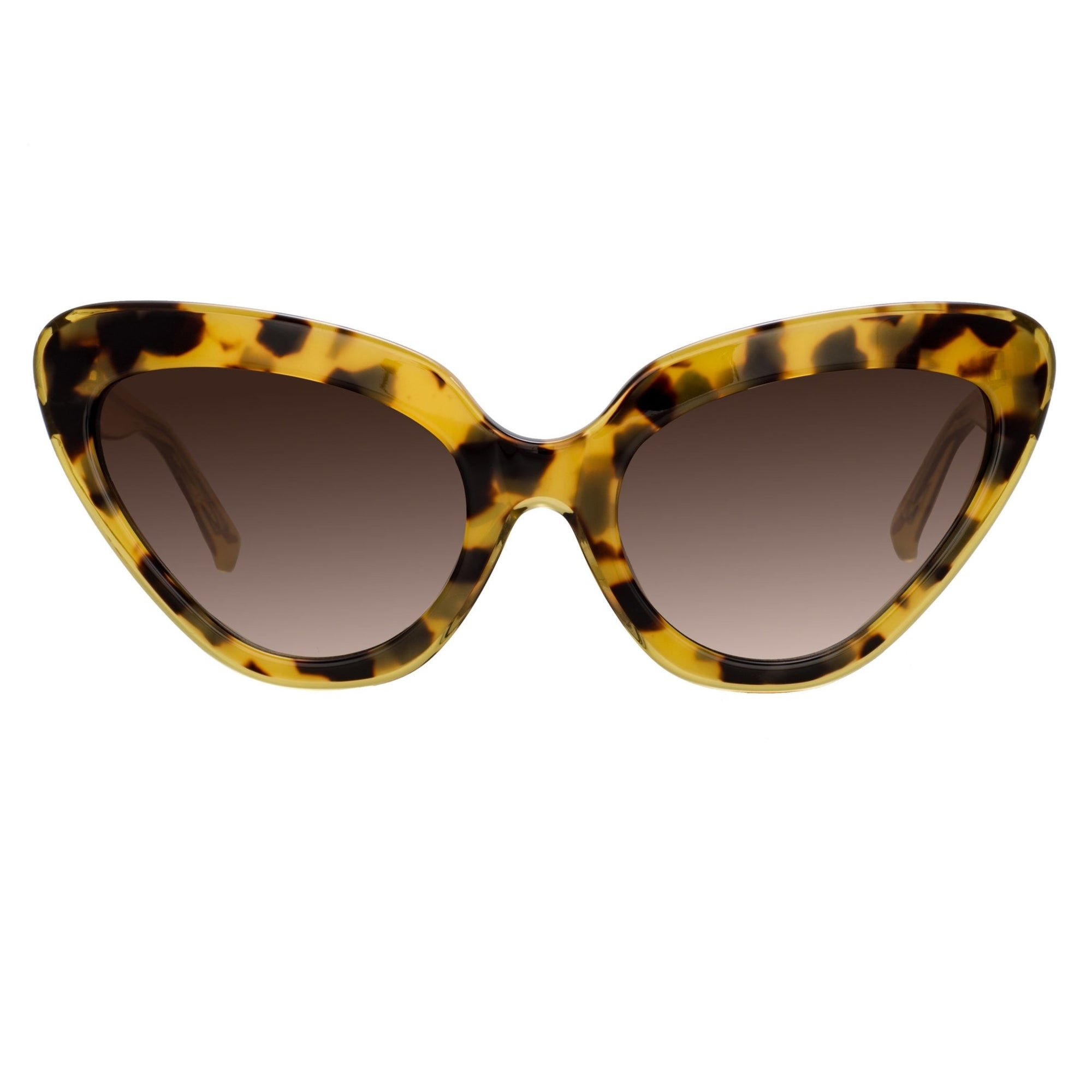 Erdem Women Sunglasses Cat Eye Tortoise Shell Yellow with Brown Graduated Lenses EDM29C2SUN - Watches & Crystals