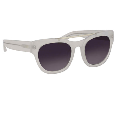 Erdem Women Sunglasses D-Frame Off White with Grey Graduated Lenses Category 3 EDM11C3SUN - Watches & Crystals