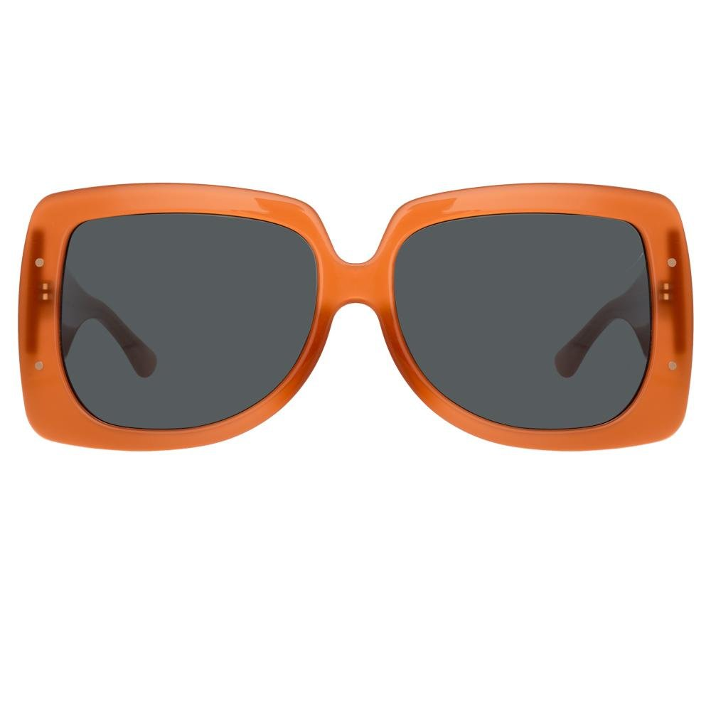 Erdem Women Sunglasses Oversized Burnt Orange Rose Gold with Grey Lenses Category 3 EDM34C4SUN - Watches & Crystals