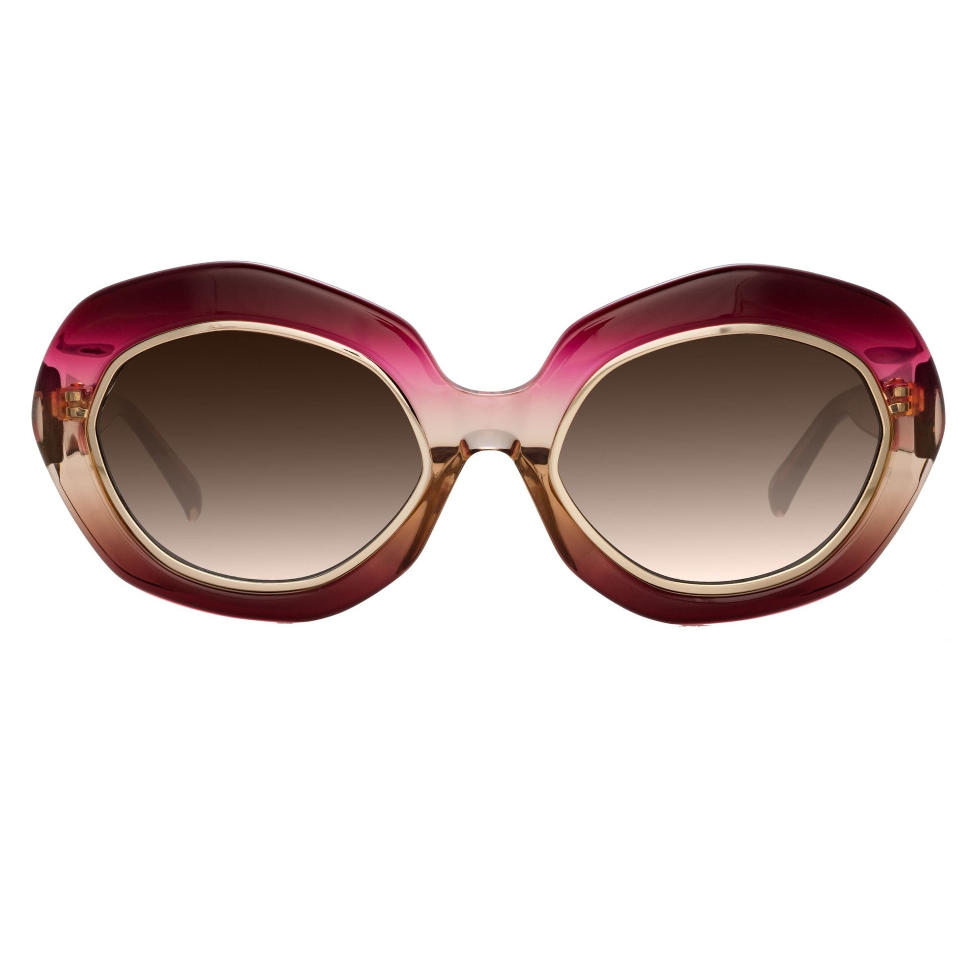 Erdem Women Sunglasses Oversized Pink Gold with Brown Graduated Lenses EDM33C1SUN - Watches & Crystals
