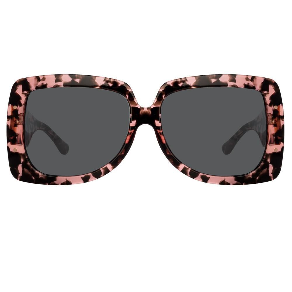 Erdem Women Sunglasses Oversized Pink Tortoise Shell Rose Gold with Grey Lenses Category 3 EDM34C3SUN - Watches & Crystals